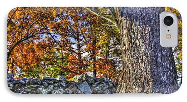 IPhone Case featuring the photograph Gettysburg At Rest - Stone Fence Near Old Cyclorama Visitors Center by Michael Mazaika