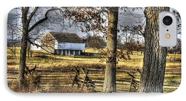 IPhone Case featuring the photograph Gettysburg At Rest - Winter Edward Mc Pherson Farm by Michael Mazaika