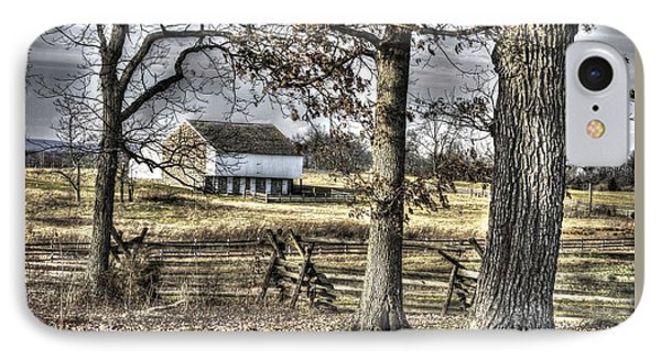 IPhone Case featuring the photograph Gettysburg At Rest - Winter Muted Edward Mc Pherson Farm by Michael Mazaika