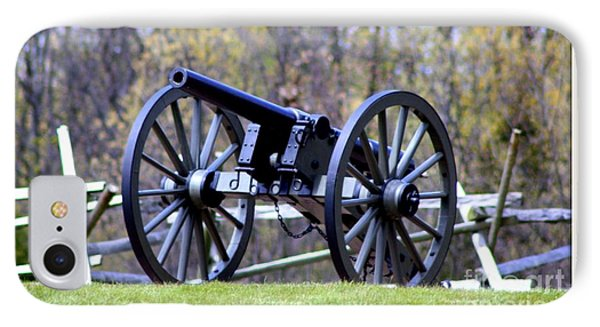 IPhone Case featuring the photograph Gettysburg Battlefield Cannon by Patti Whitten