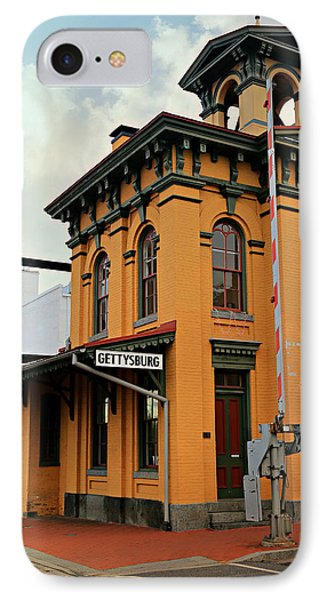 Gettysburg Railroad Station IPhone Case by Stephen Stookey