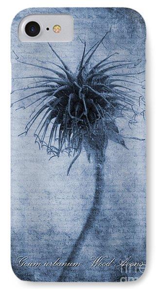 Geum Urbanum Cyanotype IPhone Case by John Edwards