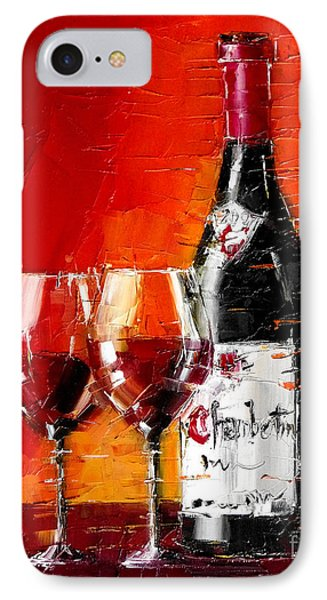 Still Life With Wine Bottle And Glass IIi IPhone Case by Mona Edulesco