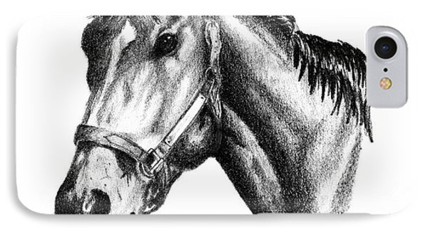 Ghazibella Thoroughbred Racehorse Filly IPhone Case by J M Lister