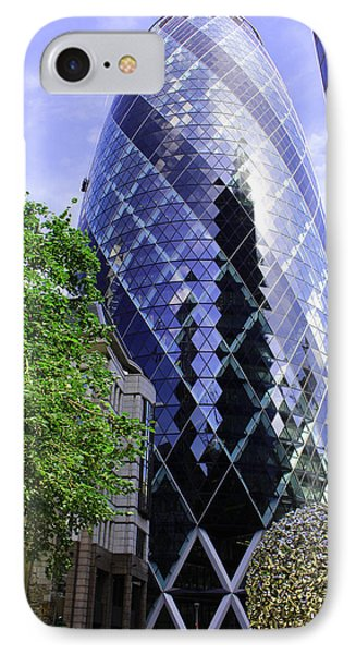 Gherkin 30 St Mary Axe IPhone Case by Nicky Jameson