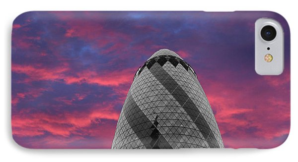 Gherkin London IPhone Case by Martin Newman