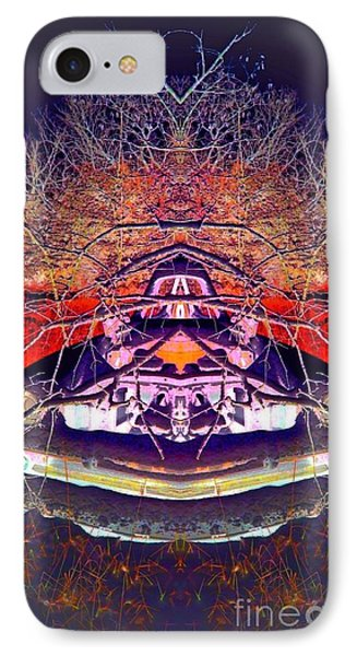 Ghost Car IPhone Case by Karen Newell