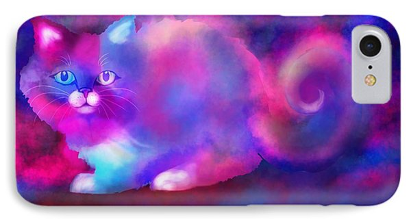 Ghost Cat 2 Phone Case by Nick Gustafson