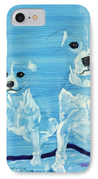 Ghost Dogs Phone Case by Terry Lewey