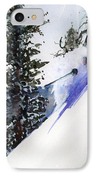 IPhone Case featuring the painting Ghost Of Tahoe Past by Ed  Heaton