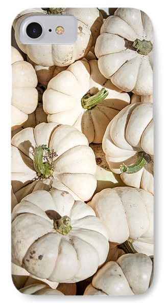 IPhone Case featuring the photograph Ghost Pumpkins by Dawn Romine