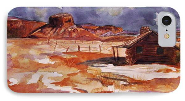 Ghost Ranch Nm Winter  IPhone Case by Ellen Levinson