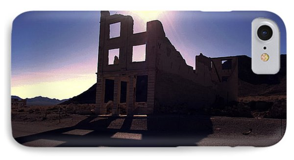 Ghost Town - Bank Closed Phone Case by Maria Arango Diener