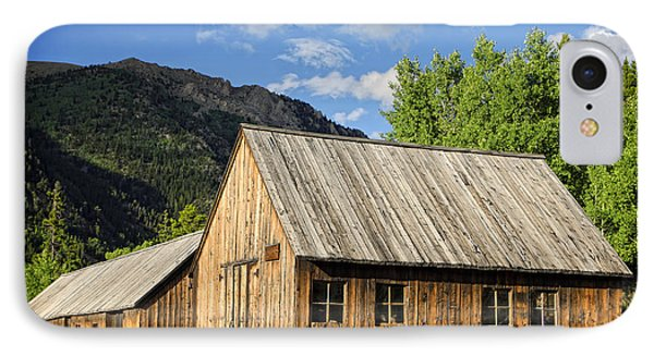 IPhone Case featuring the photograph Ghost Town Barn And Stable by Lincoln Rogers