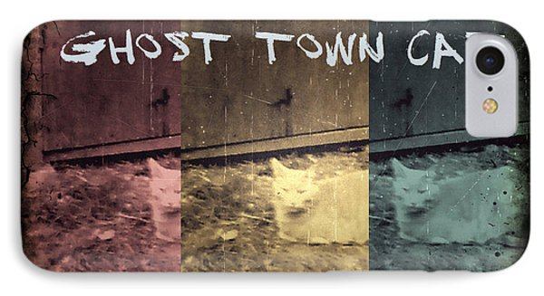 Ghost Town Cat IPhone Case by Absinthe Art By Michelle LeAnn Scott