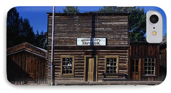 Ghost Town Nevada City Mt IPhone Case by Panoramic Images