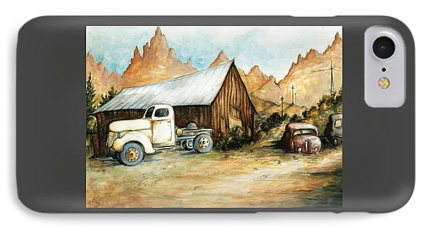 Ghost Town Nevada - Watercolor Art IPhone Case