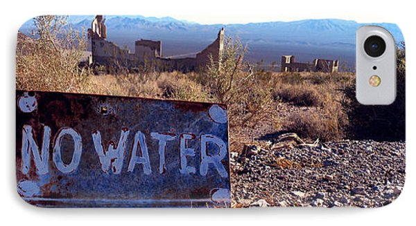 Ghost Town - No Water Phone Case by Maria Arango Diener