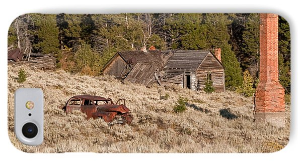 IPhone Case featuring the photograph Ghost Town Remains by Sue Smith