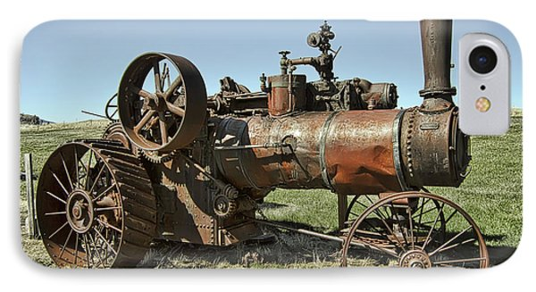 Ghost Town Steam Tractor Phone Case by Daniel Hagerman