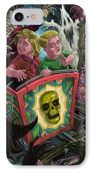 Ghost Train Fun Fair Kids Phone Case by Martin Davey