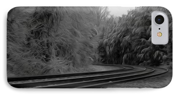 IPhone Case featuring the digital art Ghostly Curves by Kelvin Booker