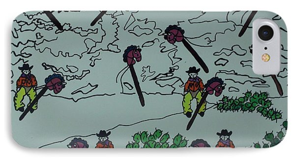 IPhone Case featuring the mixed media Ghostriders by Erika Chamberlin