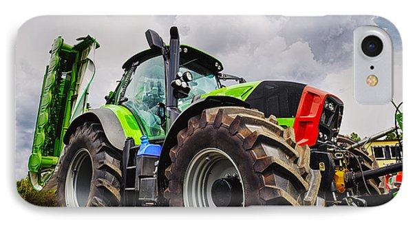 Giant Farming Tractor Latest Model IPhone Case by Christian Lagereek