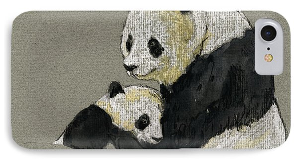 Giant Panda IPhone Case by Juan  Bosco