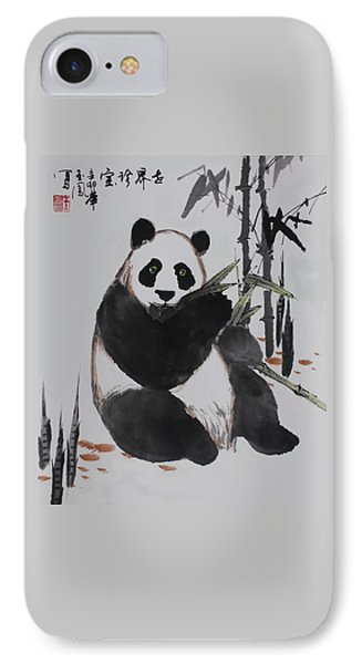 Giant Panda IPhone Case by Yufeng Wang