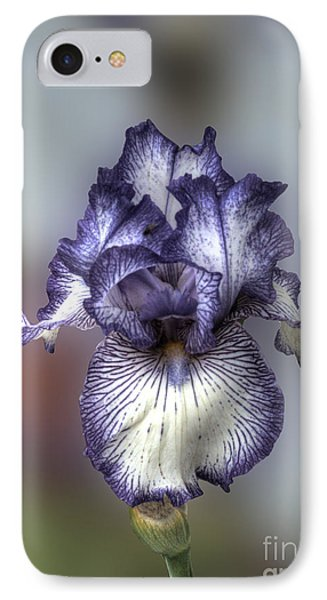 Giant Purple Iris Phone Case by Deborah Smolinske