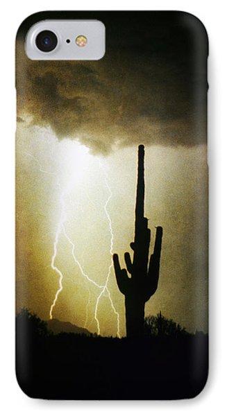 Giant Saguaro Lightning Spiral Fine Art Photography Print Phone Case by James BO  Insogna