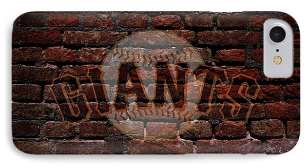 Giants Baseball Graffiti On Brick  IPhone Case