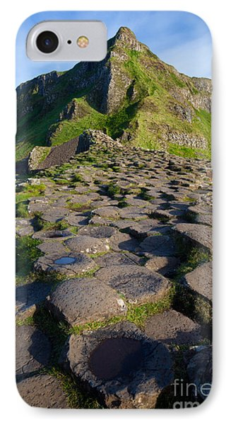 Giant's Causeway Green Peak Phone Case by Inge Johnsson
