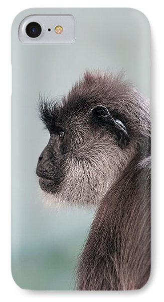 IPhone Case featuring the photograph Gibbon Monkey Profile Portrait by Tracie Kaska