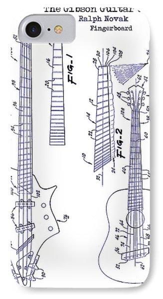 Gibson Guitar Patent Blueprint IPhone Case
