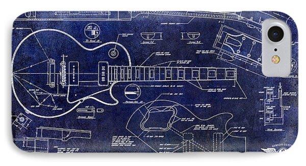 Gibson Les Paul Blueprint IPhone Case