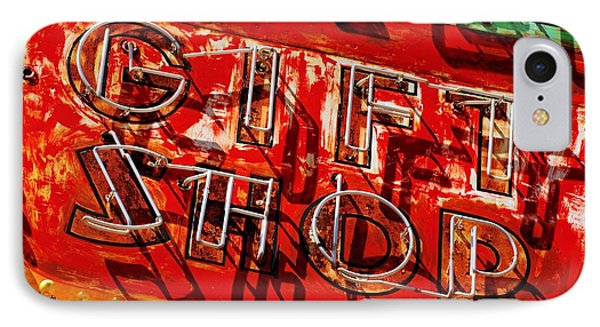 IPhone Case featuring the photograph Gift Shop Sign by Daniel Woodrum