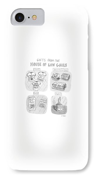 Gifts From The House Of Low Goals IPhone Case by Roz Chast