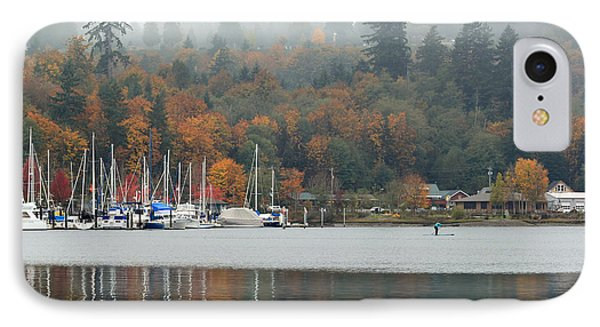 IPhone Case featuring the photograph Gig Harbor In The Fog by E Faithe Lester