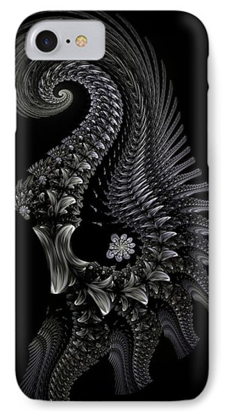 IPhone Case featuring the digital art Gigeresque II by Lea Wiggins