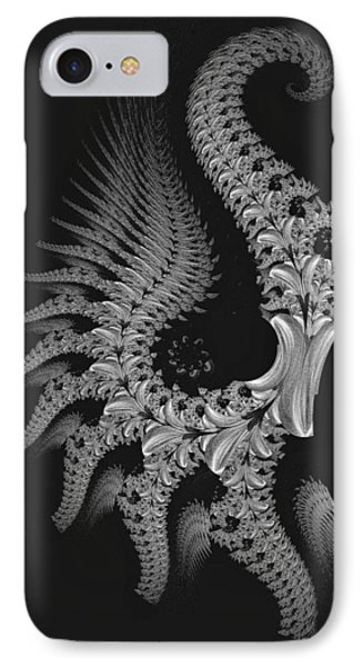 IPhone Case featuring the digital art Gigeresque by Lea Wiggins