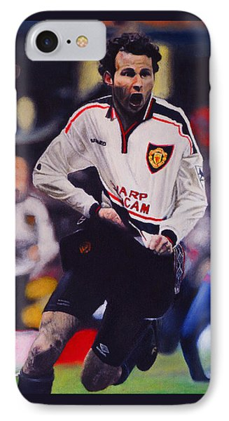Giggs Goal V Arsenal Oil On Canvas IPhone Case