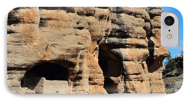 Gila Cliff Dwellings National Monument In New Mexico Usa Square Format Profile IPhone Case