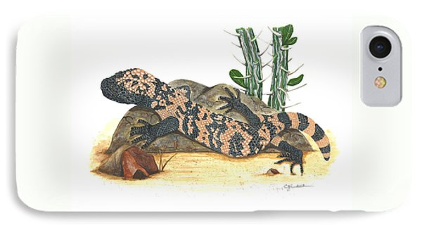 Gila Monster IPhone Case by Cindy Hitchcock