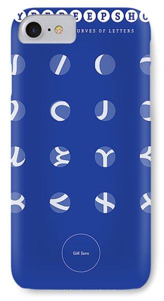Gill Sans Type Peep Show Phone Case by Martin Krzywinski