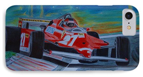 Gilles Villeneuve Phone Case by Jose Mendez