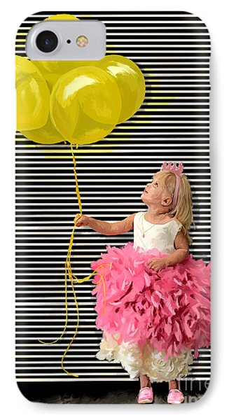 Gillian With Yellow Balloons IPhone Case by Tim Gilliland