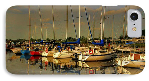 IPhone Case featuring the photograph Gimli Harbour by Larry Trupp