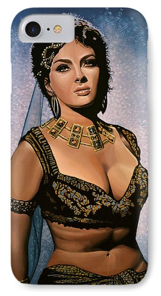Gina Lollobrigida Painting IPhone Case